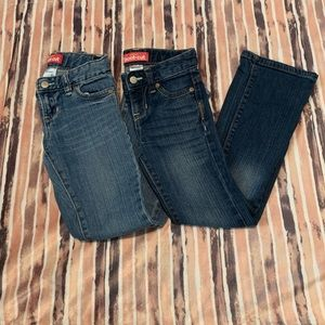 Old Navy Girls Jeans Lot of 2 Bootcut EUC Size 6